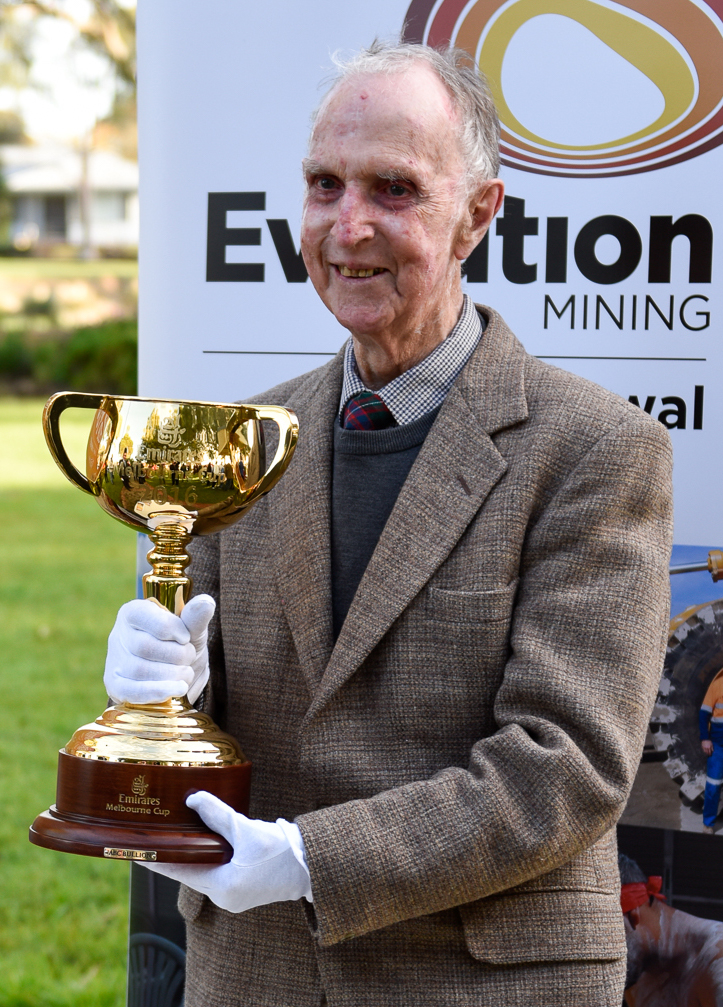 The Melbourne Cup my father came near to holding. Photo: Mal Carnegie, Lake Cowal Foundation.